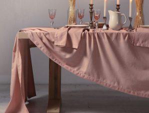 Λινό Τραπεζομάντηλο Nef-Nef Cotton-Linen English Rose 150×300