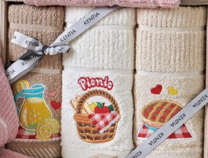 Πετσέτες Κουζίνας (Σετ 3τμχ) Kentia Kitchen Regalo 181
