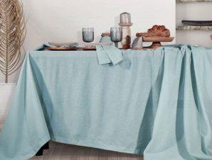 Τραπεζομάντηλο Nef-Nef Cotton-Linen 150×300 Aqua