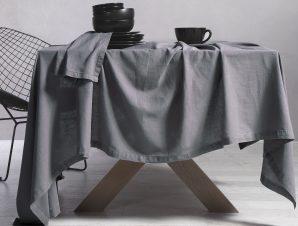 Τραπεζομάντηλο Nef-Nef Cotton-Linen Grey 150×300