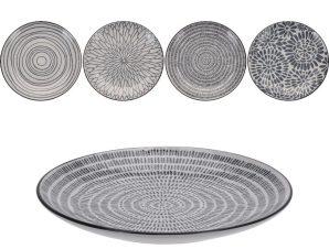 Σετ πιάτα stoneware με σχέδιο