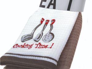 Πετσέτες Κουζίνας (Σετ 2 Τμχ) 40X60 Kentia Loft Cookies 24 Γκρι