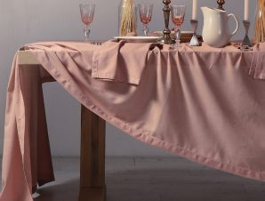 Τραπεζομάντηλο 150×300 Nef Nef Cotton-Linen Eng. Rose