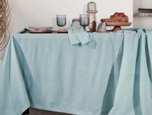 Τραπεζομάντηλο 150×250 Nef Nef Cotton-Linen Aqua