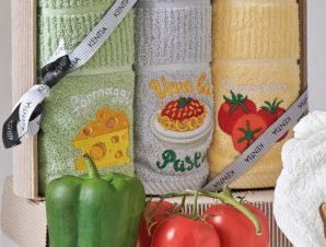Πετσέτες Κουζίνας (Σετ 3 Τμχ) Kentia Loft Regalo 183 Πράσινο