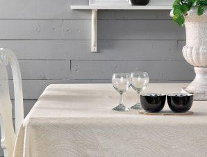 Πετσέτες Φαγητού (Σετ) 45×45 Henna Palamaiki Festozi Ivory