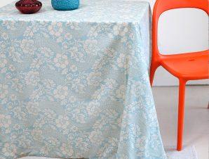 Τραπεζομάντηλο 140X140 Melinen Rosalia Blue